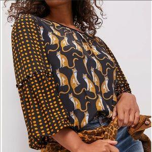 NWT Anthropologie Bl-nk leopard print blouse XS